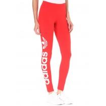 leggings adidas rosso
